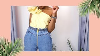 DIY Zipper Front Jeans - Members Only
