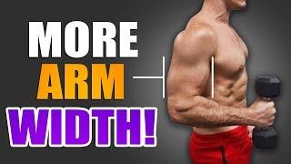 1 Easy Tip For WIDER ARMS! | FILL YOUR T-SHIRT SLEEVES!