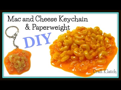 DIY Mac and Cheese Keychain and Paperweight | Craft Klatch | Resin How To