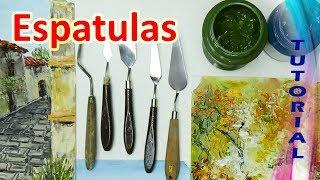 🎨 5 TÉCNICAS fáciles para PINTAR con ESPATULA en OLEO 🎨 espatula con ACRILICOS