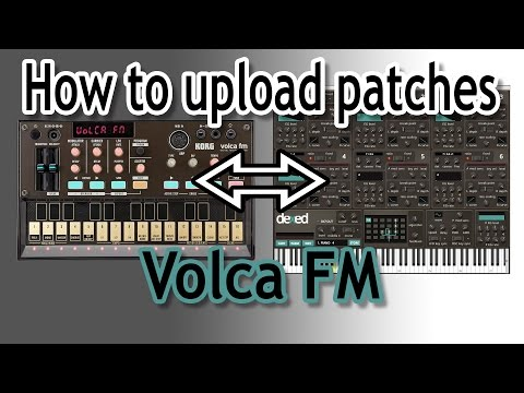 Volca FM - How to upload DX7 patches using Dexed : synthesizers