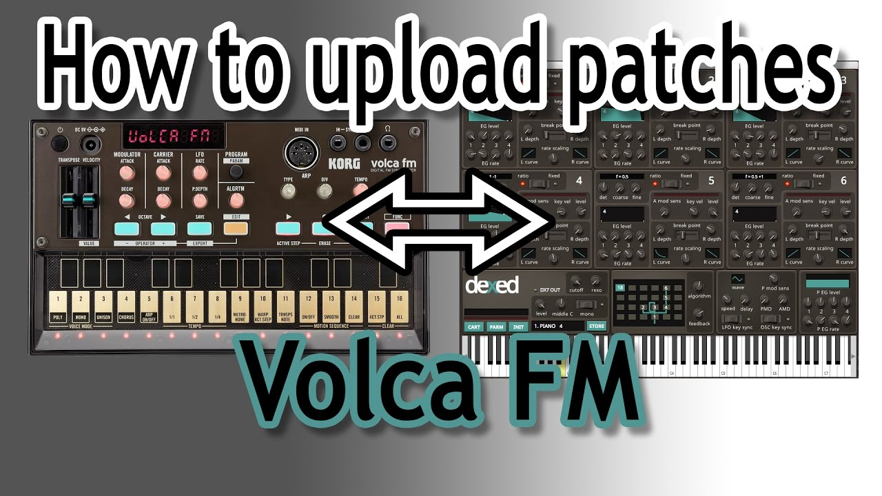 Volca FM - how to upload DX7 patches - Gearslutz