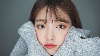 ENG SUB │❄ 겨울 니트 분위기 메이크업 ❄│매일 하는 무쌍 데일리 메이크업 │Winter romantic makeup_monolid makeup