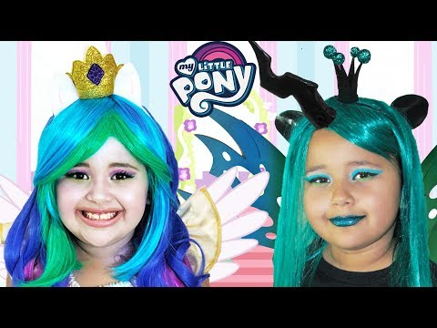 My Little Pony Celestia and Chrysalis | Makeup Halloween Costumes and Toys