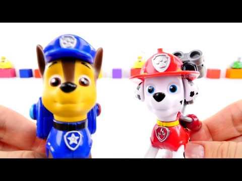 Видео: Поиграем вместе! - Щенячий патруль. Игрушки из мультика. Бешеные машинки готовятся к гонкам