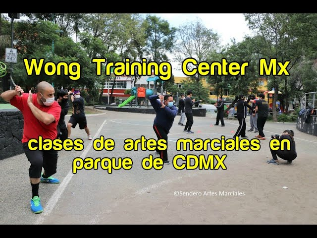 Wong Training Center Mx con clases de artes marciales en parque de CDMX