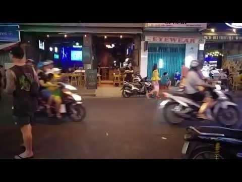 People Watching at Pham Ngu Lao Street Ho Chi Minh City Vietnam