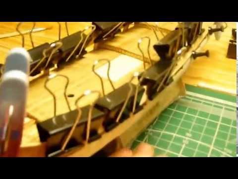 видео: Голландская яхта d'orо. Сборка модели. Часть 2.