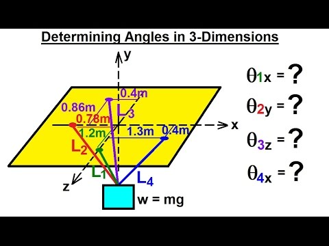 Mechanical Engineering: Particle Equilibrium (17 of 19) Determining Angles in 3-Dimension
