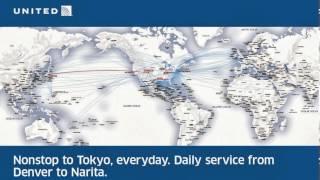 United Airlines Denver-Tokyo map