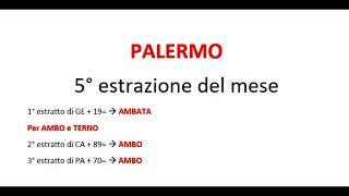 Ambo e Terno a Palermo in 5 estrazioni