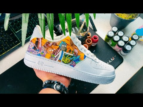 cheap prices performance sportswear release date: RICK & MORTY AIR FORCE 1 CUSTOMS TIME-LAPSE