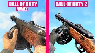 Call of Duty WW2 Guns Reload Animations vs Call of Duty 2