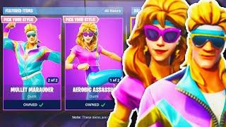 "NEW ""Aerobic Assassin + Mullet Marauder"" SKINS Gameplay! - NEW Fortnite UPDATE! (New Fortnite Skins)"