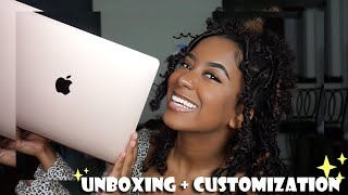 UNBOXING MY NEW ROSEGOLD 2020 MACBOOK AIR + Customization | Olivia Cee