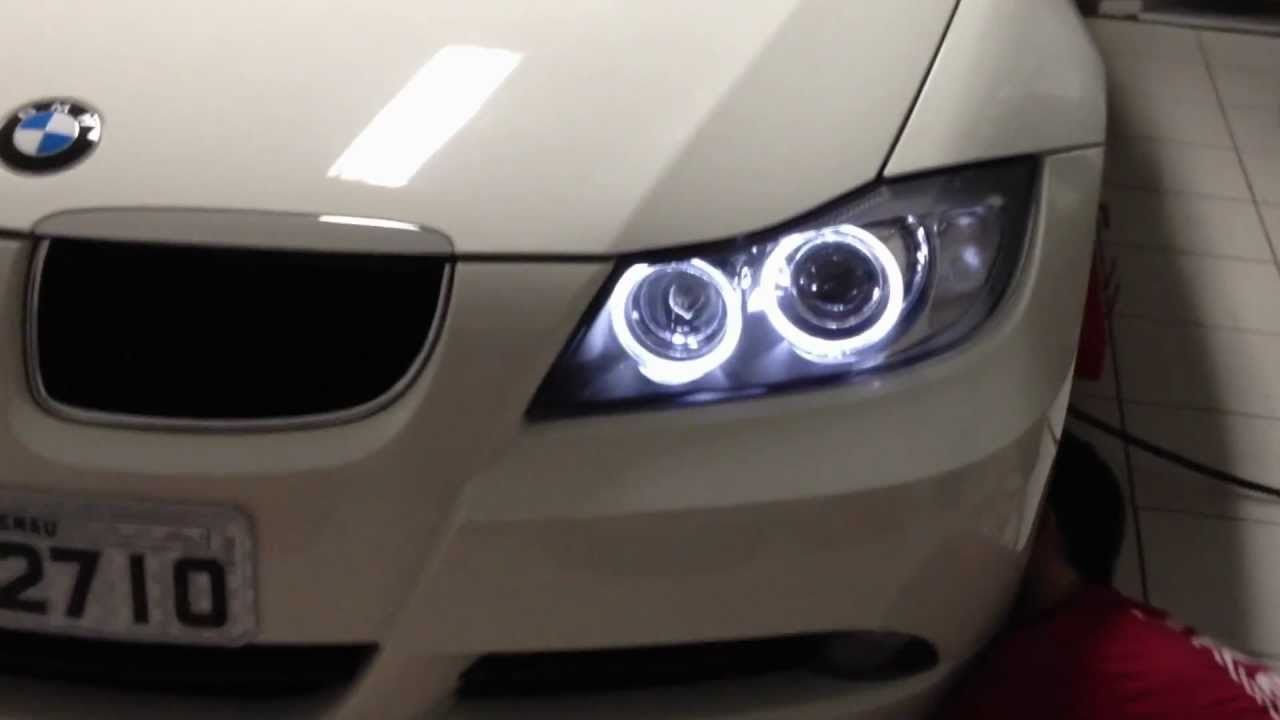 led angel eyes bmw 320i e90 youtube. Black Bedroom Furniture Sets. Home Design Ideas