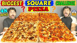 BIGGEST SQUARE PIZZA EATING CHALLENGE | WORLD'S BIGGEST PIZZA CHALLENGE | Food Challenge (Ep-302)