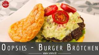 Oopsies Low Carb Burger Brötchen Backen - Atkins Revolution Rolls - Oopsie Bread