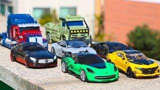 Transformers 5 TLK Dark Optimus Prime Bumblebee Cogman Crosshairs Drift Hot Rod Hound Car Robot Toys