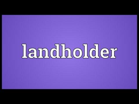 Header of landholder