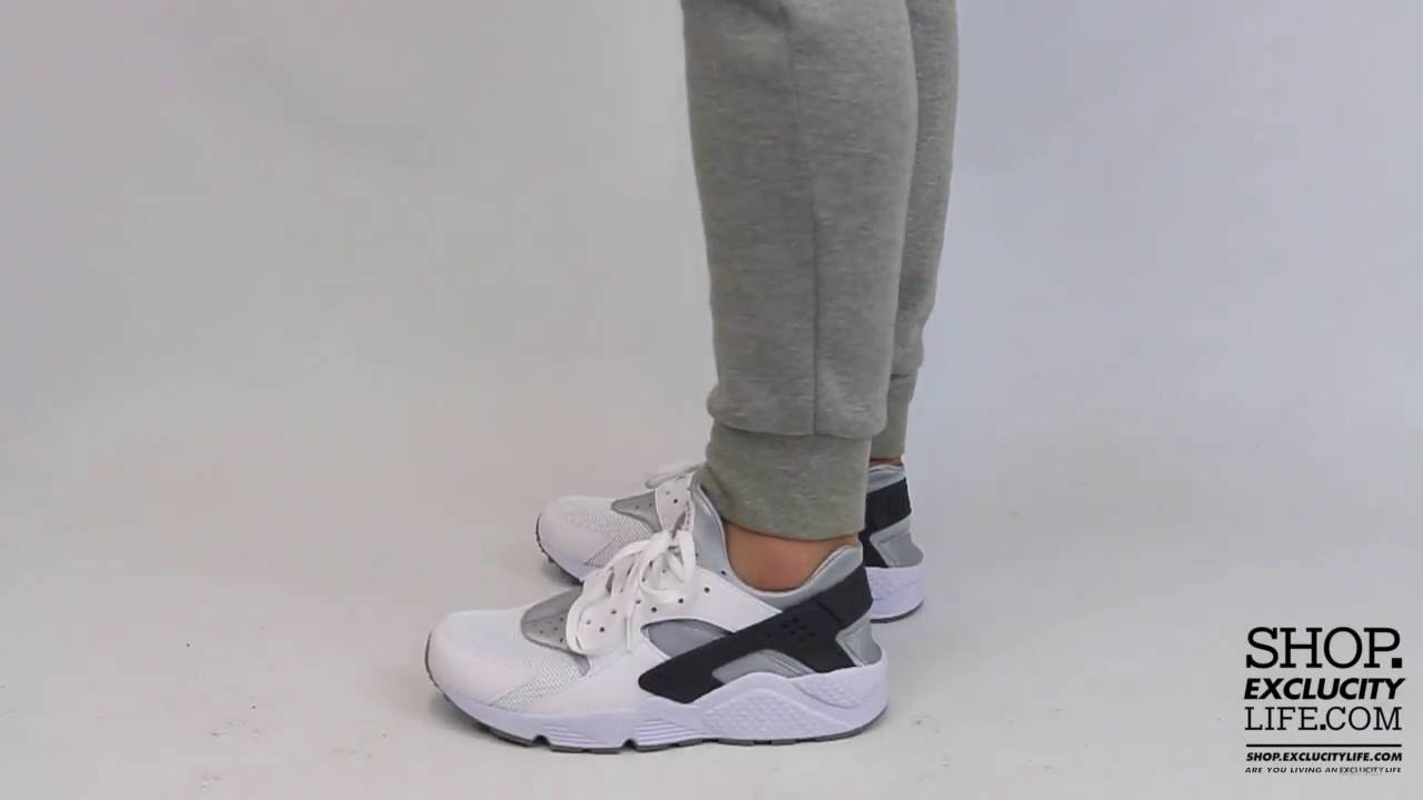 7290ee735a9e Nike Huarache Run Wolf Grey Light Grey On feet Video at Exclucity ...