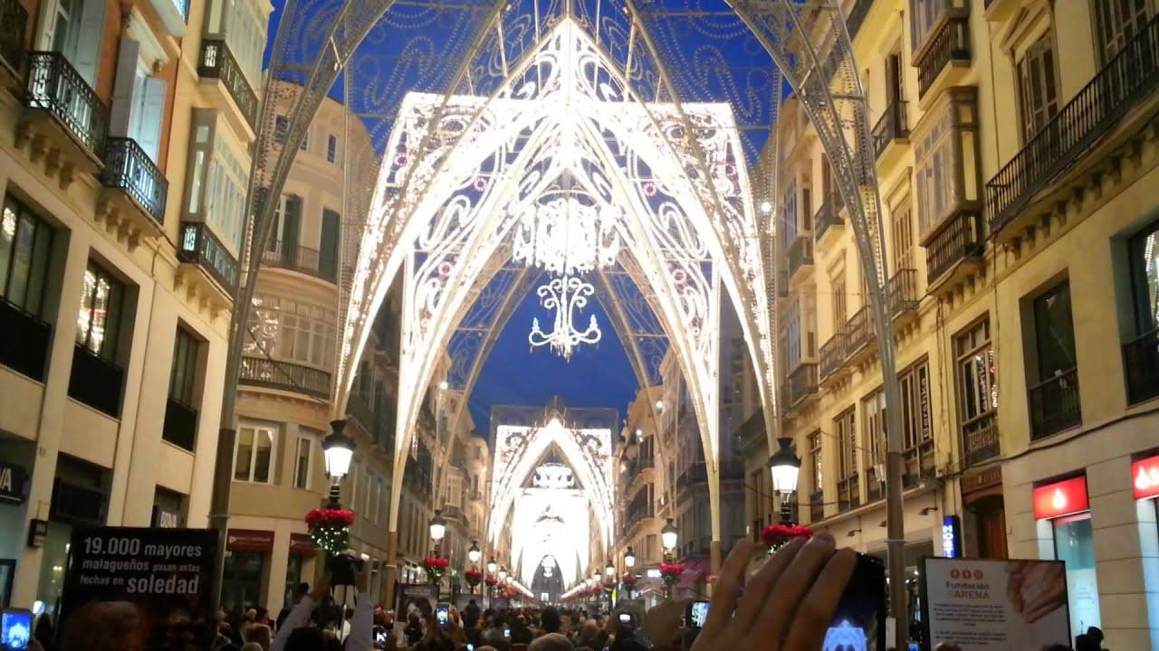 Weihnachtsbeleuchtung Basteln.Weihnachtsbeleuchtung In Malaga Spanien Navidad En Málaga