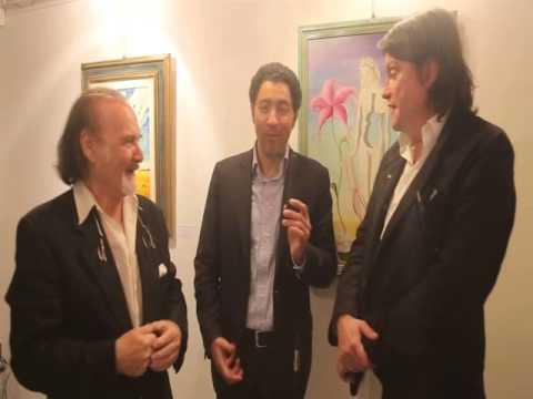 Salvo Nugnes intervista i figli d'arte José Dalì e Cristiano De André alla Milano Art Gallery