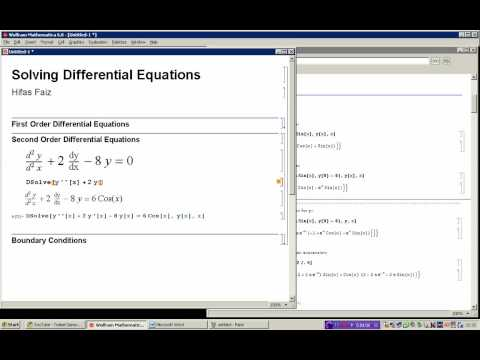 Solving Differential equations using Mathematica