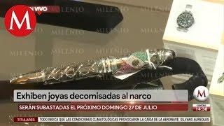 Exhiben joyas decomisadas al narco en Los Pinos