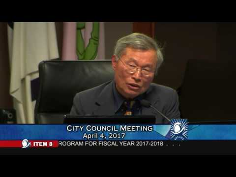 Council Member Barry Chang lecturing Cupertino Residents to grow up on 4/4/2017