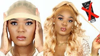 NO MORE GLUE SIS.  HOW I APPLY & LAY MY LACE WIGS FOR BEGINNERS FT. WIGSBUY | OMABELLETV