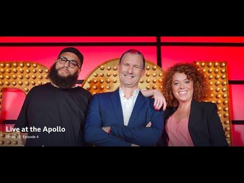Live at the Apollo, S12 E4. Adam Hills, Michelle Wolf, Jamali Maddix. Nov 2016