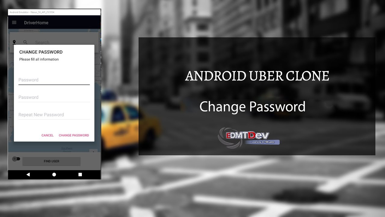 Android Uber Clone - Part 22 Driver Sign Out and Change Password