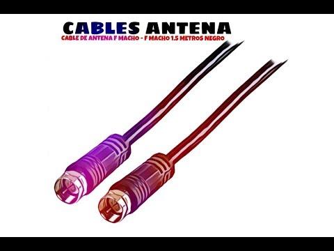 Video de Cable de antena F macho - F macho 1.5 M Negro