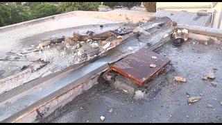 פגיעה ב גג בית שדרות מתיחות דרום  הסלמה ירי רקטות רקטה עוטף עזה חמאס