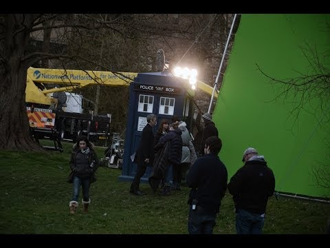 Doctor Who Filming Series 8 - Doctor in the Park