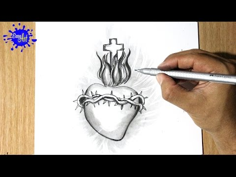 Como Dibujar un corazon - How to draw a heart - Dibujando el corazon ...