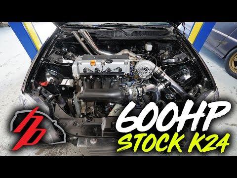 STOCK K24 EK Makes 600+HP!