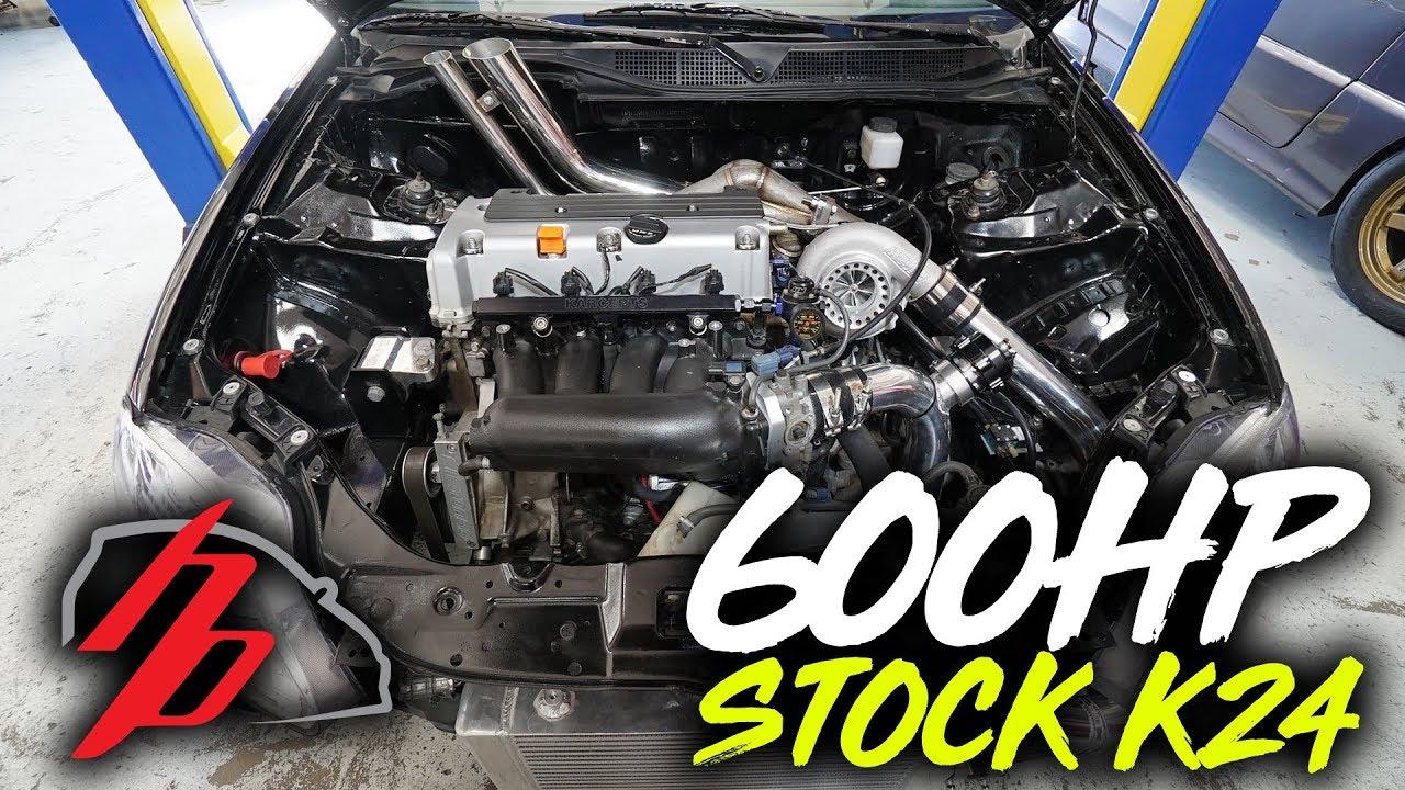 Stock K24 Ek Makes 600 Hp Youtube