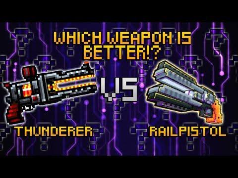 Pixel Gun 3D Thunderer VS Block City Wars Railpistol