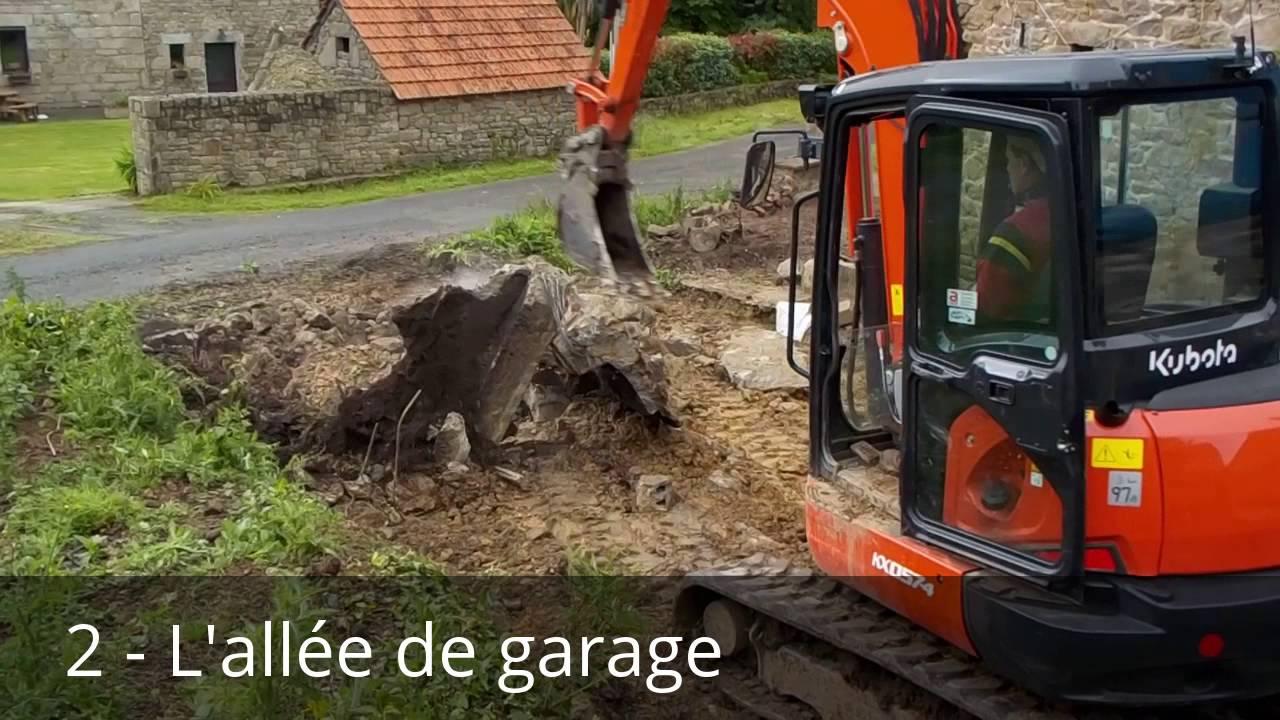 Terrassement Et Préparation Du Drain (4 étapes)