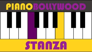 Kabhi Alvida Naa Kehna - Easy PIANO TUTORIAL - Stanza [Both Hands]