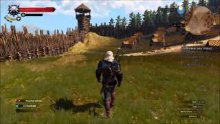 The Witcher 3 - Breaking into the Nilfgaardian Army Camp - Wall Jumping