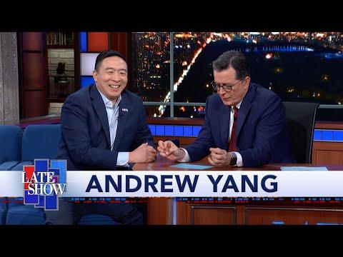 Andrew Yang Tells Stephen Colbert Why the Democratic Debate Was So White