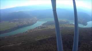 Camping de l'île Chambod vu des airs
