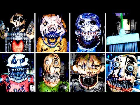 Baldi's Basics in Nightmares ALL JUMPSCARES (FNAF)