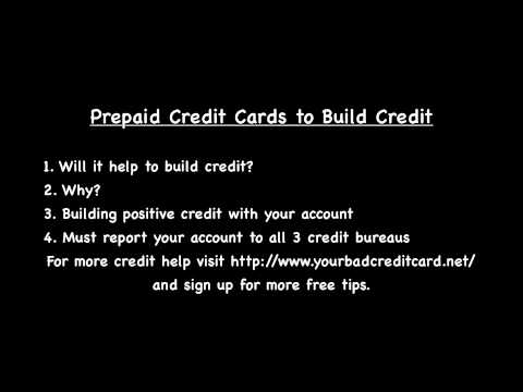 Prepaid Credit Cards to Build Credit