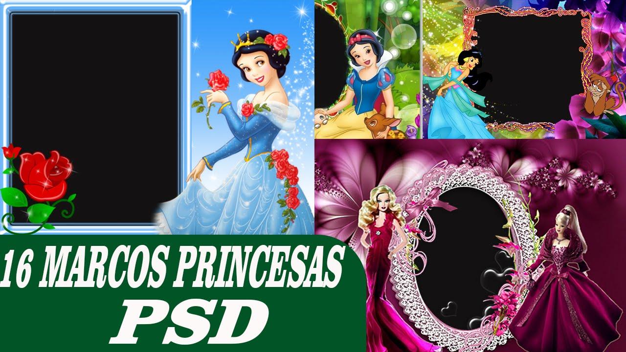 Marcos Princesas psd - 16 plantillas psd para photoshop - YouTube