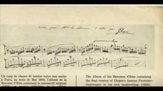 Chopin Fantasie Impromptu Final Version (1835) Rubinstein