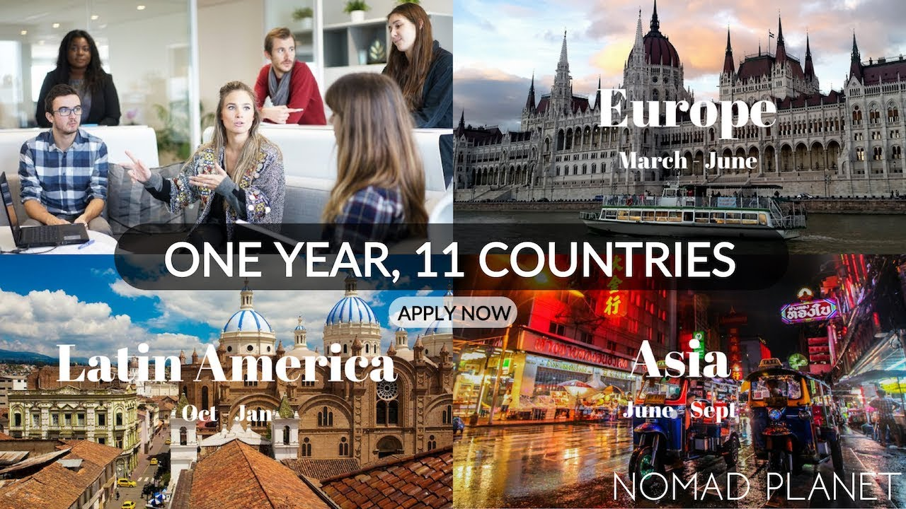 Travel & Work w/ a Group of Digital Nomads ?NomadPlanet  – Apply Now for 2019